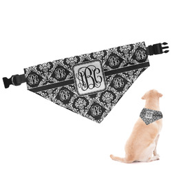 Monogrammed Damask Dog Bandana - Large (Personalized)