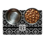 Monogrammed Damask Dog Food Mat (Personalized)