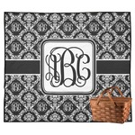 Monogrammed Damask Outdoor Picnic Blanket (Personalized)