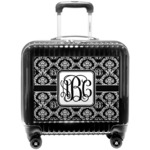 Monogrammed Damask Pilot / Flight Suitcase (Personalized)