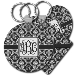 Monogrammed Damask Keychains - FRP (Personalized)