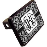 "Monogrammed Damask Rectangular Trailer Hitch Cover - 2"" (Personalized)"