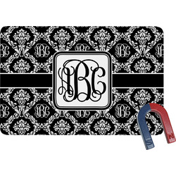 Monogrammed Damask Rectangular Fridge Magnet (Personalized)