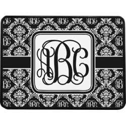 Monogrammed Damask Rectangular Trailer Hitch Cover (Personalized)