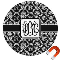 Monogrammed Damask Car Magnet (Personalized)