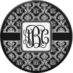 Monogrammed Damask Round Trailer Hitch Cover (Personalized)