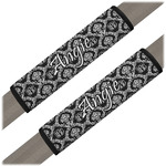 Monogrammed Damask Seat Belt Covers (Set of 2) (Personalized)