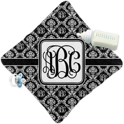 Monogrammed Damask Security Blanket (Personalized)