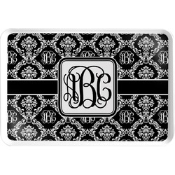 Monogrammed Damask Serving Tray (Personalized)