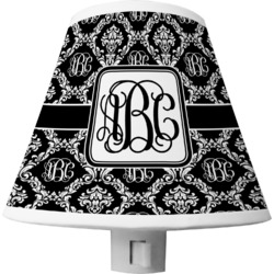 Monogrammed Damask Shade Night Light (Personalized)