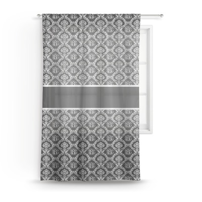 Monogrammed Damask Sheer Curtains (Personalized)