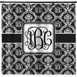 Monogrammed Damask Shower Curtain (Personalized)