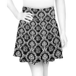 Monogrammed Damask Skater Skirt (Personalized)