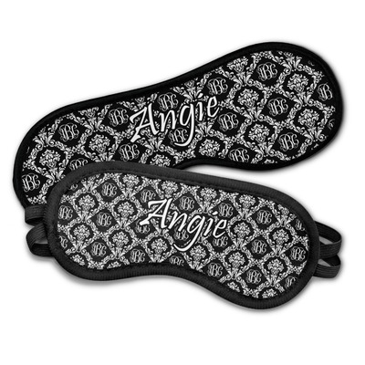 Monogrammed Damask Sleeping Eye Masks