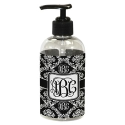 Monogrammed Damask Plastic Soap / Lotion Dispenser (8 oz - Small) (Personalized)