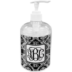 Monogrammed Damask Soap / Lotion Dispenser (Personalized)