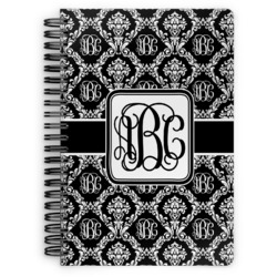 Monogrammed Damask Spiral Bound Notebook (Personalized)