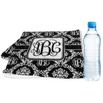Monogrammed Damask Sports & Fitness Towel (Personalized)