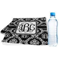 Monogrammed Damask Sports Towel (Personalized)