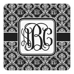 Monogrammed Damask Square Decal - Custom Size (Personalized)