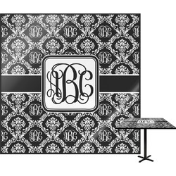 Monogrammed Damask Square Table Top (Personalized)