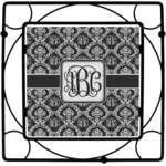 Monogrammed Damask Square Trivet (Personalized)