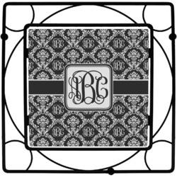 Monogrammed Damask Square Trivet (Personalized)
