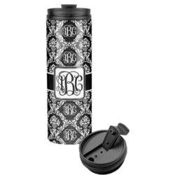 Monogrammed Damask Stainless Steel Travel Tumbler (Personalized)