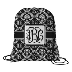 Monogrammed Damask Drawstring Backpack (Personalized)