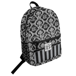 Monogrammed Damask Student Backpack (Personalized)