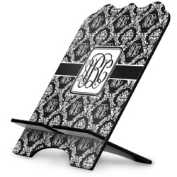 Monogrammed Damask Stylized Tablet Stand (Personalized)