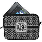 Monogrammed Damask Tablet Case / Sleeve (Personalized)