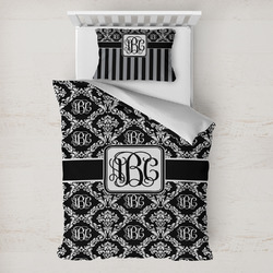 Monogrammed Damask Toddler Bedding