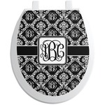 Monogrammed Damask Toilet Seat Decal (Personalized)