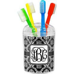 Monogrammed Damask Toothbrush Holder (Personalized)