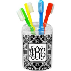 Monogrammed Damask Toothbrush Holder (Personalized)