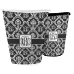 Monogrammed Damask Waste Basket (Personalized)
