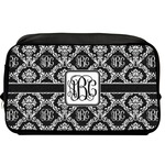 Monogrammed Damask Toiletry Bag / Dopp Kit (Personalized)