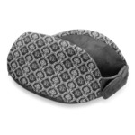 Monogrammed Damask Travel Neck Pillow