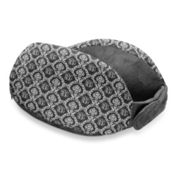 Monogrammed Damask Travel Neck Pillow (Personalized)