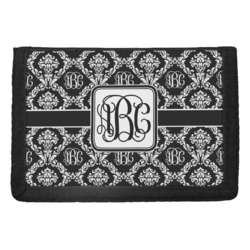 Monogrammed Damask Trifold Wallet (Personalized)
