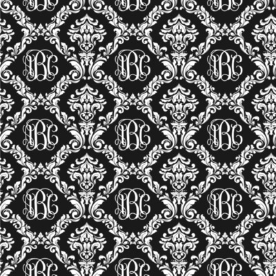 Monogrammed Damask Wallpaper & Surface Covering