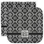 Monogrammed Damask Facecloth / Wash Cloth (Personalized)