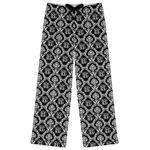 Monogrammed Damask Womens Pajama Pants (Personalized)
