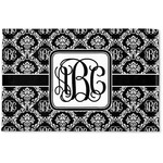 Monogrammed Damask Woven Mat (Personalized)