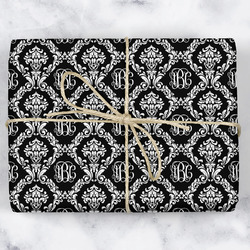 Monogrammed Damask Wrapping Paper