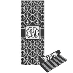 Monogrammed Damask Yoga Mat - Printable Front and Back (Personalized)