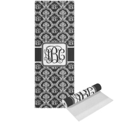 Monogrammed Damask Yoga Mat - Printed Front (Personalized)