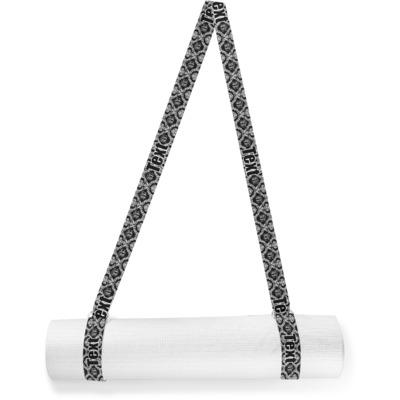 Monogrammed Damask Yoga Mat Strap (Personalized)