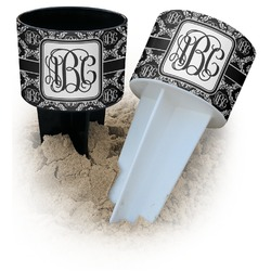 Monogrammed Damask Beach Spiker Drink Holder (Personalized)